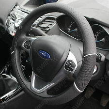 PEUGEOT 406 STEERING WHEEL COVER BLACK LEATHER LOOK NEW FAST POST 1445