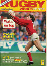RUGBY WORLD MAGAZINE APRIL 1988 - PERFECT GIFT FOR A FAN BORN IN THIS MONTH