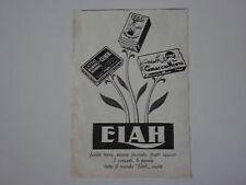 advertising Pubblicità 1949 ELAH CUBIK/GHIACCIO MENTA/CREMA