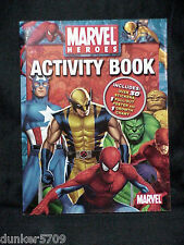 MARVEL HEROES ACTIVITY BOOK 12 DOUBLE SIDED PAGES OF FUN WITH POSTERS & STICKERS