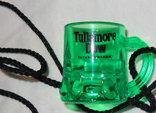 Tullamore Dew Irish Whiskey Miniature Mug on a String Shot Glass...Green