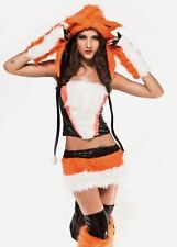 Womens Adult 7Pcs Sexy Fox Lady Costume Fancy Dress Outfit #520