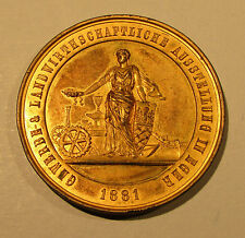 1881 EGER Agriculture Industry Expo Bronze Medal Bohemia Czech Sudetenland Cheb