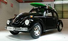 VW Escarabajo Tabla De Surf Welly 1:24 Escala metal Detallado Modelo 22436SB-W