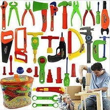 34 PCS Pretend Tools Toy Set Kid Learn Play Workshop Toolbox Workbench Hobby Toy