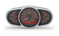 Dakota Digital Universal Elliptical Analog Dash Gauge Carbon Fiber Red VHX-1016