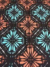 "Retro Printed Jersey Lycra Stretch Warm Fabric 60"" Width Orange/Blue"