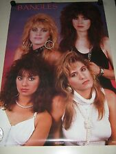 "the Bangles / Orig. Vintage UK poster #1181 / ""1986"" / Exc.+ new cond./ 23 x 35"""