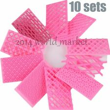10 Sets Quilting Embosser Stampo Cake Fondant Cutter Decorating Mould Tools #T