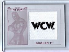 WWE Booker T 2016 Topps Heritage Printing Plate WCW Patch Relic Card SN 1 of 1