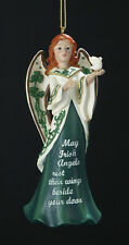 KURT S. ADLER RESIN IRISH ANGEL HOLDING DOVE w/ SAYING CHRISTMAS ORNAMENT