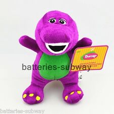 "7"" Purple New Dinosaur Barney Soft Plush Stuffed Toy Doll Sing I LOVE YOU song"