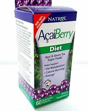 Natrol Acai Berry Diet 60 Capsules Antioxidant Acaiberry Green Tea Super Food