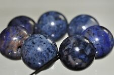 7Pcs 12mm Dainty~DENIM BLUE DUMORTIERITE Large Round Bead Pendant M0979