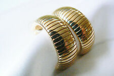 Park Lane signed gold tone metal link half moon earrings