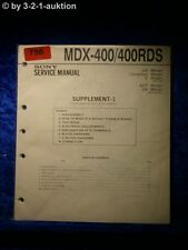 Sony Service Manual MDX 400 / 400RDS (#0756)