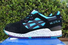 ASICS GEL LYTE III 3 SZ 13 PEACOCK BLUE BLACK H642L 4390