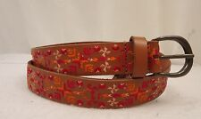 Women's Lucky Brand Aztec Embroidered  Leather   Belt Large