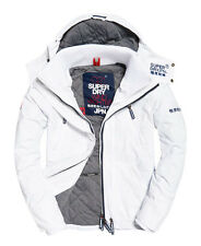 Brand New Superdry Hooded Wind Yachter Jacket Colour Snow/Navy/White (L)