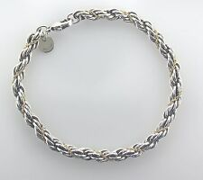 Tiffany & Co. Rope Bracelet, Sterling Silver & 18K Yellow Gold