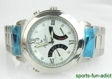NIB LUCIEN PICCARD Diamond Face Automatic Day Date SS Wristwatch 26576SSD w/BOX