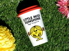 MR MEN Little Miss Sunshine DOUBLE WALLED PORCELAIN Take Away TRAVEL MUG