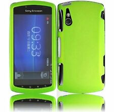 Hard Rubberized Case for Sony Ericsson Xperia Play R800 - Neon Green