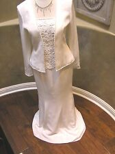 NWT Cameron Blake MOB Mothers occasion formal occasion CREPE Lace dress white 6