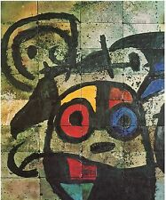 JOAN MIRO, CERAMIC MURAL FOR THE GRADUATE CENTER,OFFSET LITHOGRAPH 1964 UNSIGNED
