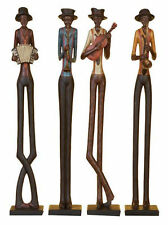 """24"""" Set of 4 Poly Resin Jazz Band Music Sculpture Home Decor Statue Culture"""