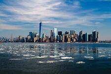 NEW YORK CITY SKYLINE LANDSCAPE POSTER STYLE C 24x36 HI RES