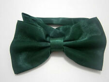 Dark Green Mens 2 Layer PreTied Dicky Bow Tie Adjustable Neck Fast Postage