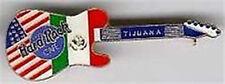 Hard Rock Cafe TIJUANA 1990s USA & Mexico Flag Telecaster GUITAR PIN - HRC #9734
