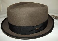 NEW MEN'S SCALA WORCHESTER DIAMOND SNAP BRIM HAT WITH EXTERIOR BAND KHAKI LARGE