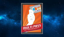 Multi Pass Fridge Magnet. NEW Art Inspired by The Fifth Element. Sci Fi