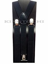 New Mens Womens Black Clip-on Suspenders Elastic Y-Shape Adjustable Braces