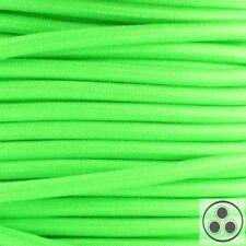 Textilkabel Stoffkabel Lampen-Kabel Stromkabel Elektrokabel Neon Grün 3adrig