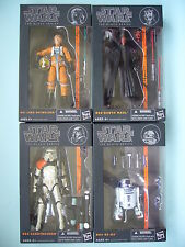 """STAR WARS 2013 WAVE 1 THE BLACK SERIES 6"""" INCH COMPLETE SET OF 4 MIB **RARE**"""