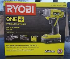 Ryobi One+ 18-Volt Lithium Ion Impact Drill/Driver Kit Model P881
