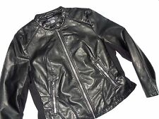 KENNETH  COLE Reaction womens Black faux Leather JACKET size XXL