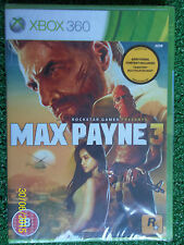 XBOX 360 ROCKSTAR MAX PAYNE 3 III PAL BRAND NEW SEALED MINT Inc MULTIPLAYER DLC