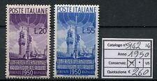 1950 Confer. Internaz. di Radiodiffusione - 2 valori NUOVI MNH Repubblica S142