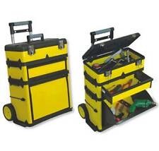 NEW Yellow Portable Tool Shop.Wheel Rolling Metal Cabinet Storage.Workshop.