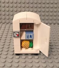 Lego New MOC Custom City Interior Refrigerator Fridge Freezer Appliance W/ Foods