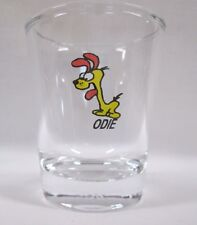 Odie *Garfield's Dog*  Image on Clear Shot Glass