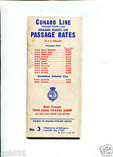 Vintage Cruise Line Brochure CUNARD WHITE STAR LINE Passage Rates 1953 Ship