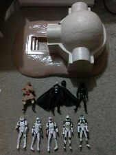 "STAR WARS 3 3/4"" FIGURE & DIORAMA LOT LARS HOMESTEAD CLONE TROOPERS DARTH VADER"
