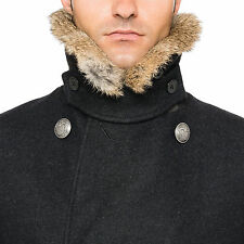 Ovadia & Sons Fur Collar Peacoat Short Coat Jacket  New with Tags Retail $1395