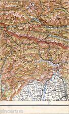 Lienz Kötschach Abfaltersbach Oberdrauburg 1937 Teil-Karte/Ln. Tolmezzo Maniago
