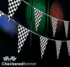 Checkered Flag Pennant (100 Ft.) Banner Race Car Racing Decorations Decorative48